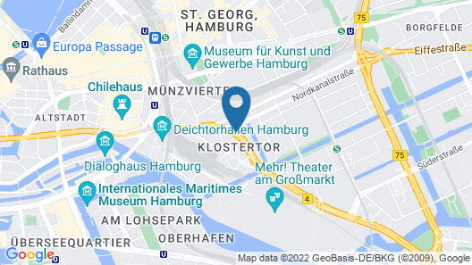 Hyperion Hotel Hamburg Map