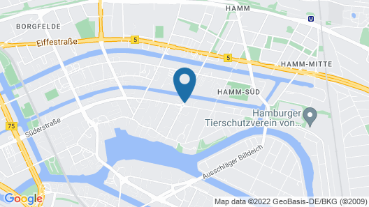 Apartment-Hotel Hamburg Mitte Map