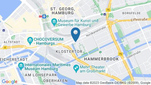 Hampton by Hilton Hamburg City Centre Map