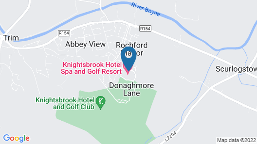 Knightsbrook Hotel Spa & Golf Resort Map