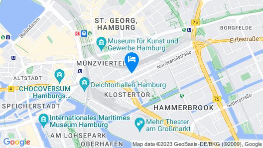 Hotel Belmondo Hamburg Hbf. Map