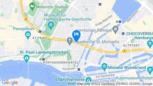 Citadines Michel Hamburg Map