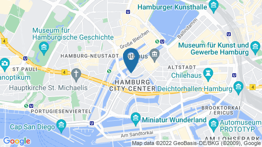 Sofitel Hamburg Alter Wall Map