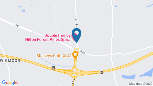 DoubleTree by Hilton Forest Pines Spa & Golf Resort Map