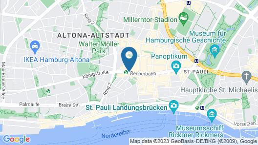 a&o Hamburg Reeperbahn Map