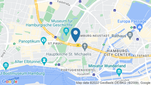 Adina Apartment Hotel Hamburg Michel Map