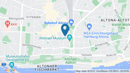 Centrum Hotel Commerz am Bhf Hamburg Altona Map