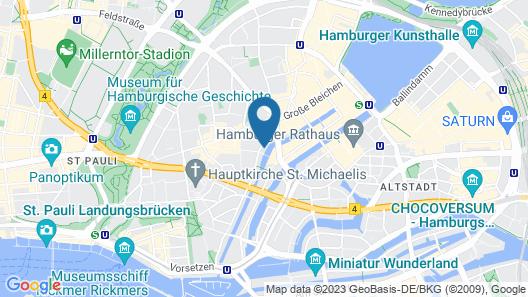 Ruby Lotti Hotel Hamburg Map