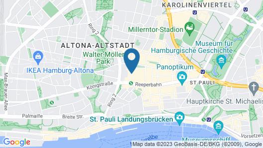 St.Joseph Hotel Hamburg - St.Pauli Kiez Reeperbahn Map
