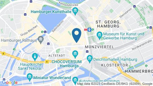 Park Hyatt Hamburg Map