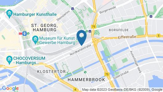 a&o Hamburg City Map