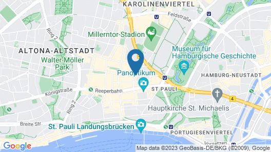 east Hotel Hamburg Map