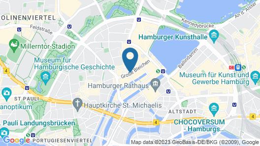 Renaissance Hamburg Hotel Map