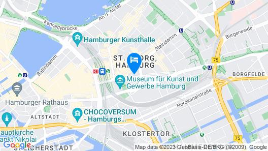 Novum Hotel Hamburg Map