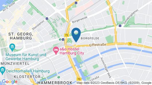 Moxy Hamburg City Map