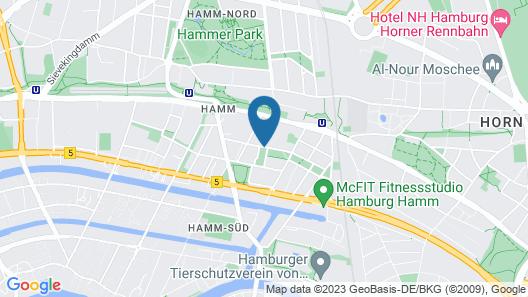 ITM Hotel Motel 21 Hamburg-Mitte Map