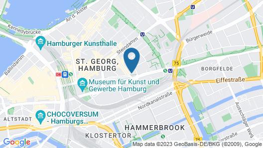 Courtyard by Marriott Hamburg City Map