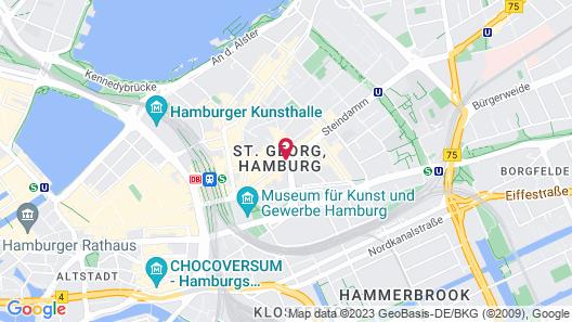 Novum Hotel Hamburg Stadtzentrum Map