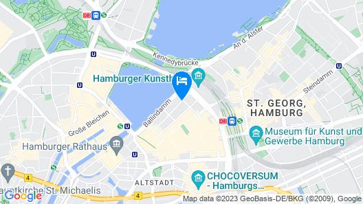 Barceló Hamburg Map