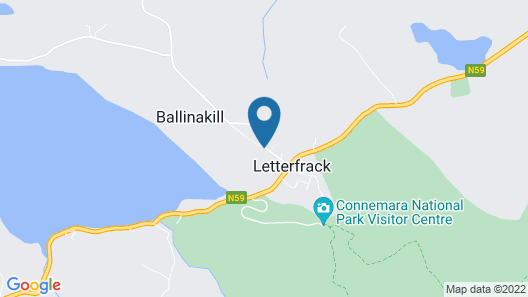 Connemara National Park Hostel Map