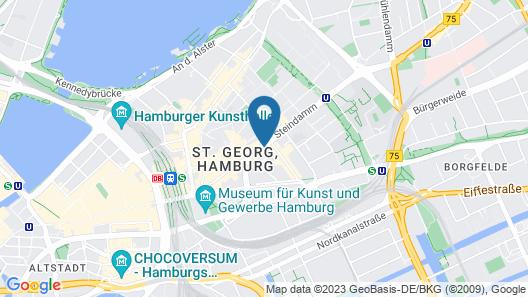 Novum Style Hotel Hamburg-Centrum Map