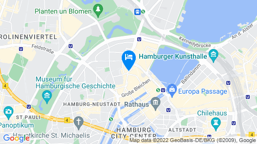 Hamburg Marriott Hotel Map