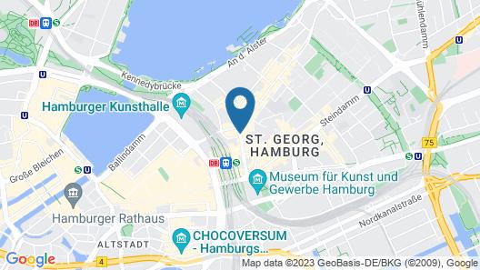 Novum Hotel Continental Hamburg Hauptbahnhof Map
