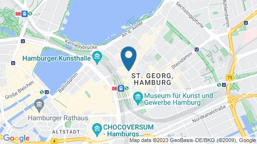Reichshof Hamburg, Curio Collection by Hilton Map