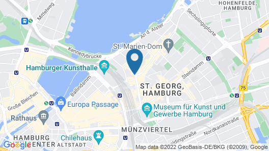 Novum Hotel Norddeutscher Hof Hamburg Map