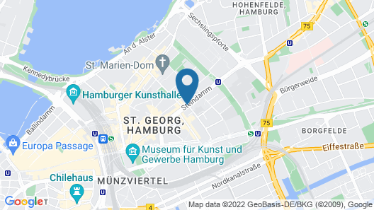 ARCOTEL Rubin Hamburg Map