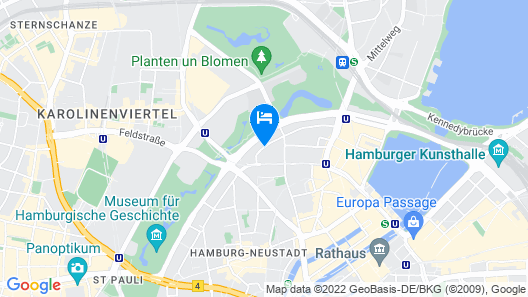 Scandic Hamburg Emporio Map