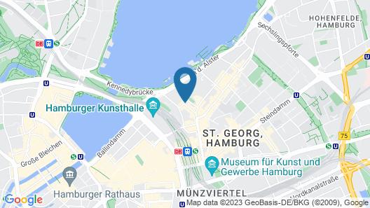 Novum Hotel Alster Map