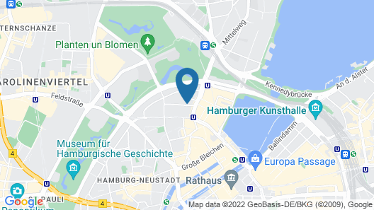 SIDE Design Hotel Hamburg Map