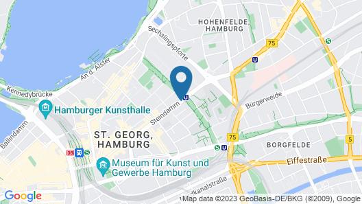 Motel One Hamburg-Alster Map