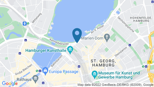 Hotel Atlantic Hamburg, Autograph Collection Map