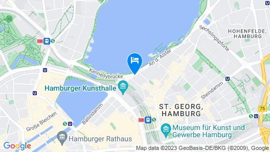 Hotel Atlantic Hamburg, Autograph Collection Map