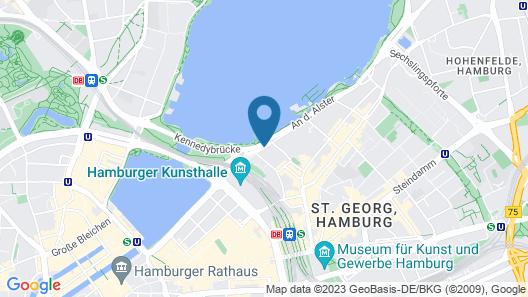 Hotel Atlantic Kempinski Hamburg Map