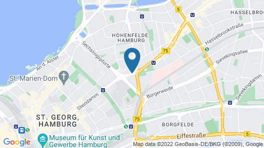 Novotel Hamburg City Alster Map