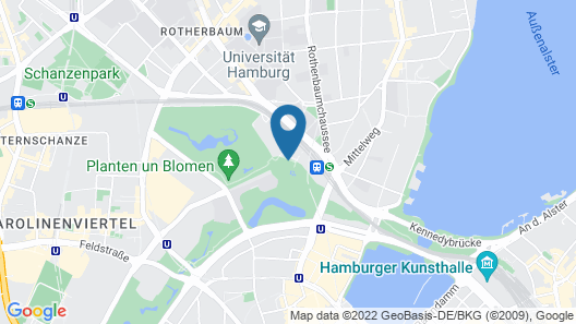 Radisson Blu Hotel, Hamburg Map