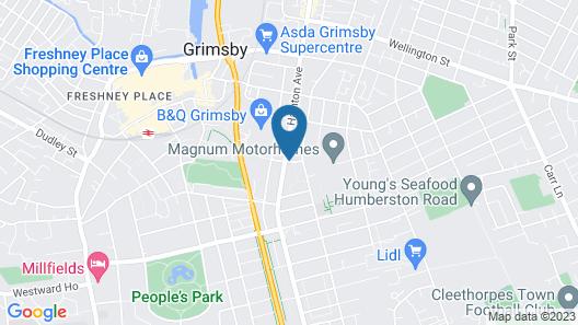 Regent Guest House Grimsby Map