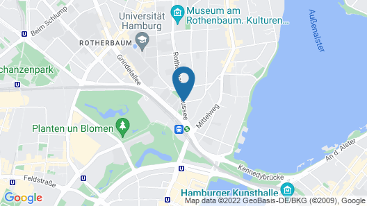 Grand Elysee Hamburg Map