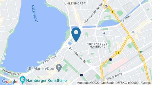 Crowne Plaza Hamburg - City Alster Map