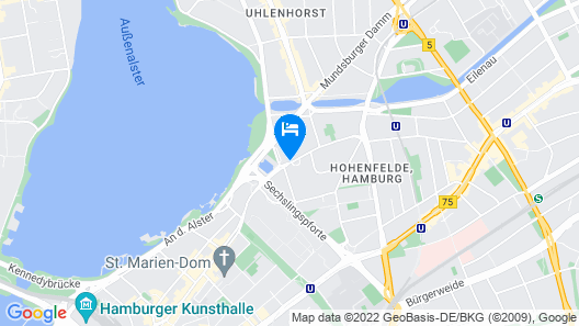 Crowne Plaza Hamburg - City Alster Map