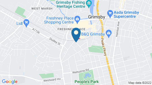 Holiday Inn Express Grimsby Map