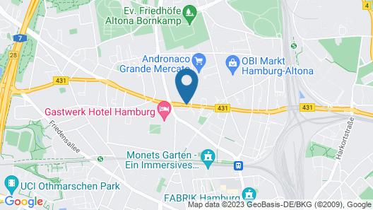 NH Hamburg Altona Map