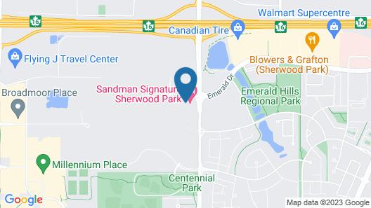 Sandman Signature Sherwood Park Hotel Map