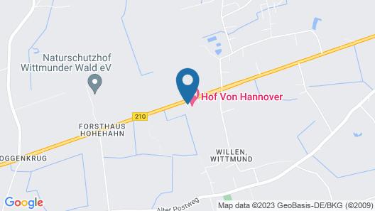 Hotel Hof von Hannover Map