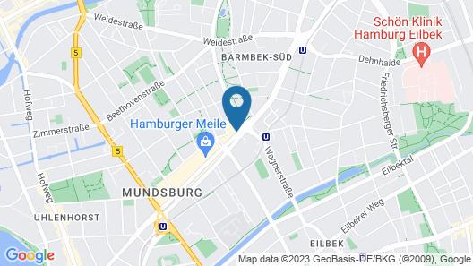 Dehnhaide Apartments Map