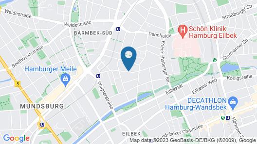 ibis Styles Hamburg Alster City Map
