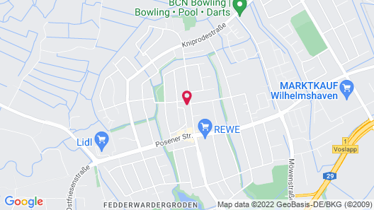 Fewo und Meer Whv Map